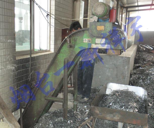 山东龙口某电机厂高速冲床生产线废料集中输送