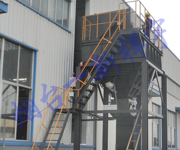 某柴油机铸铁屑集中输送存储系统